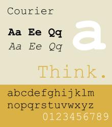 Courier Monospace Font